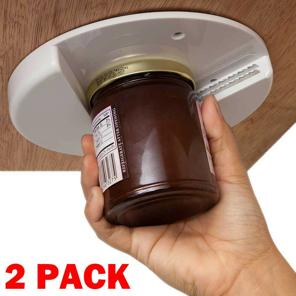 2x Jar Opener for Weak Hands Under Cabinet Lid Openers Senio