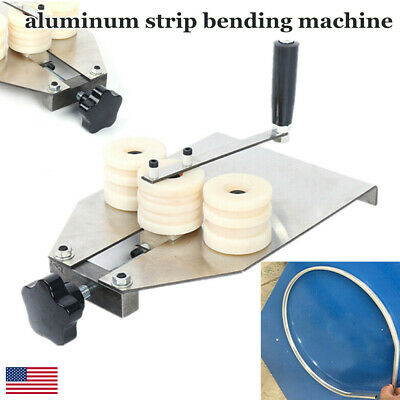 Manual Aluminum Bar Bending Machine 6-16mm Hollow Aluminum Strip Bender Usa New