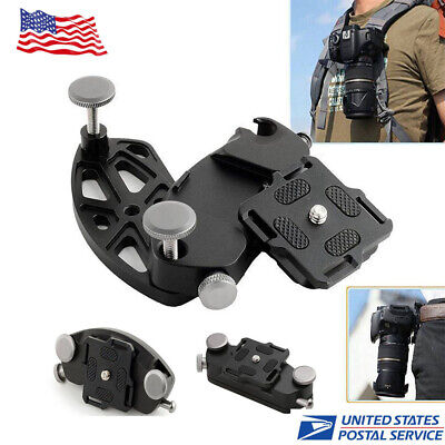 Camera Quick Release Holster Waist Belt Buckle Mount Clip For Canon Nikon DSLR