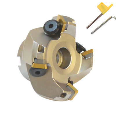 45 Degree Indexable Face Mill Cutter 2-12 Inch Cutting With Sekn Inserts