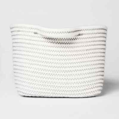 "Threshold Bath Basket Small Crate Off White 6"" X 9"" X 9"""