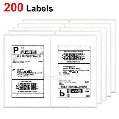 Us 200 Shipping Labels 8.5x5.5 Rounded Corner Self Adhesive 2 Per Sheet Usps Ups