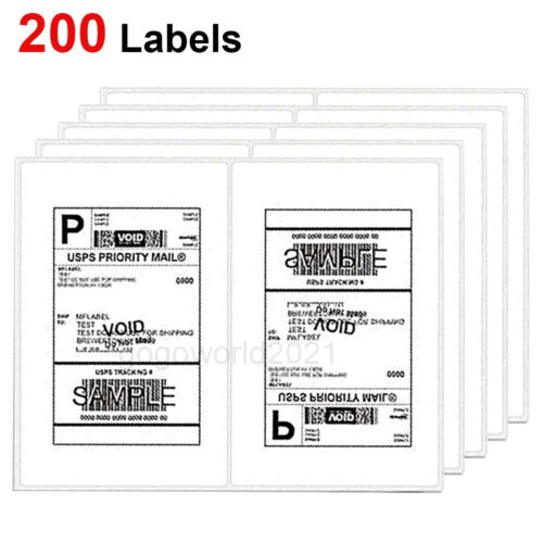 US 200 Shipping Labels 8.5x5.5 Rounded Corner Self Adhesive