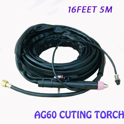 AG-60 Plasma Cutter Cutting Torch HQ Complete 40-60A 5M & 16Feet Cables Straight