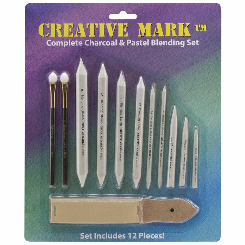 Creative Mark Complete Charcoal Pastel Blending Set Pencil Sponges Tortillions