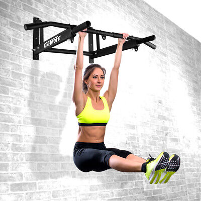 OTF Wall Mounted Pull Up ChinUp Bar Multi Function Home Gym Exercise Fitness