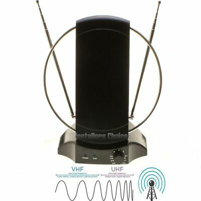 Digital HDTV Antenna Indoor Stand Amplified TV Signal Booster 50 Miles