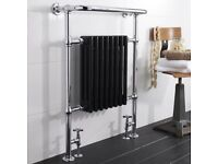Brand new Hudson Reed Traditional Marquis Heated Towel Rail - Black