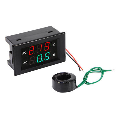 Ac60-300v 50a Digital Voltmeter Ammeter Led Amp Volt Dual Display Panel Bi896