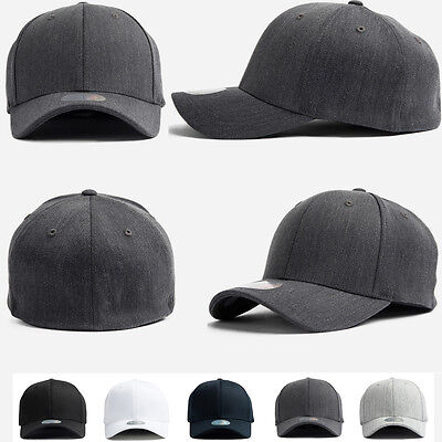 XL~2XL Big Unisex Mens Plain Flexfit Hat Solid Stretch Fit Baseball Spandex Caps - Spandex Hat