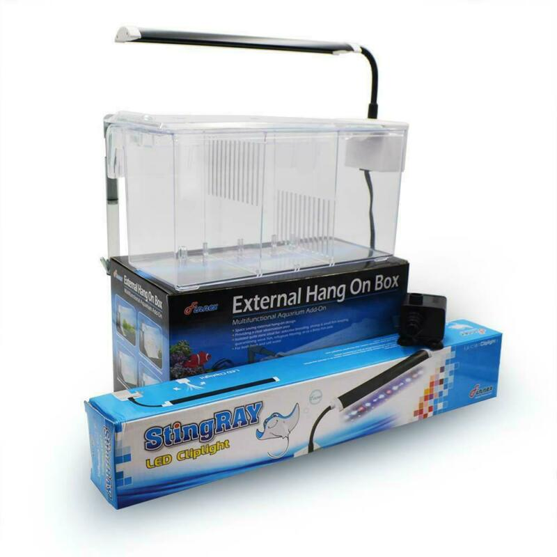 EXTERNAL HANG ON REFUGIUM BOX (3 SECTION) W/PUMP & LED - FINNEX