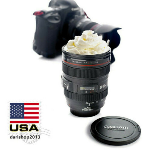 New Caniam Camera Lens Cup Outdoor Coffee Beer Tea Mug with