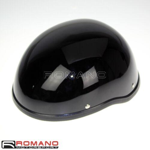 Black Helmet Skull Cap Universal Fit Bobber Cruiser Chopper Biker Motorcycle Hot