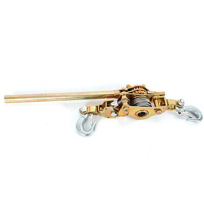 2t Heavy Duty Hand Lever Puller Come Along Cable 2 Hoist Hooks 4400lb Ratchet Us