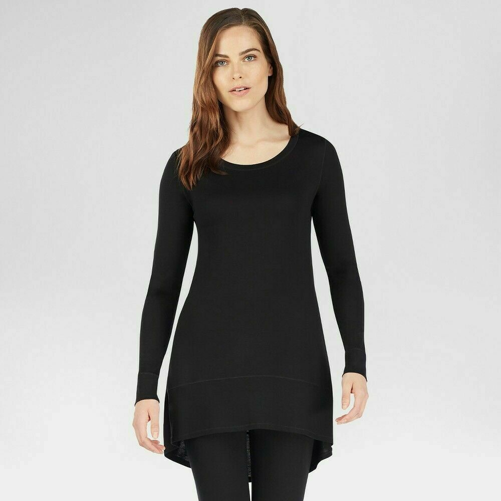 Warm Essentials Women's Smooth Stretch Scoop Neck Tunic – Black 3X Clothing, Shoes & Accessories