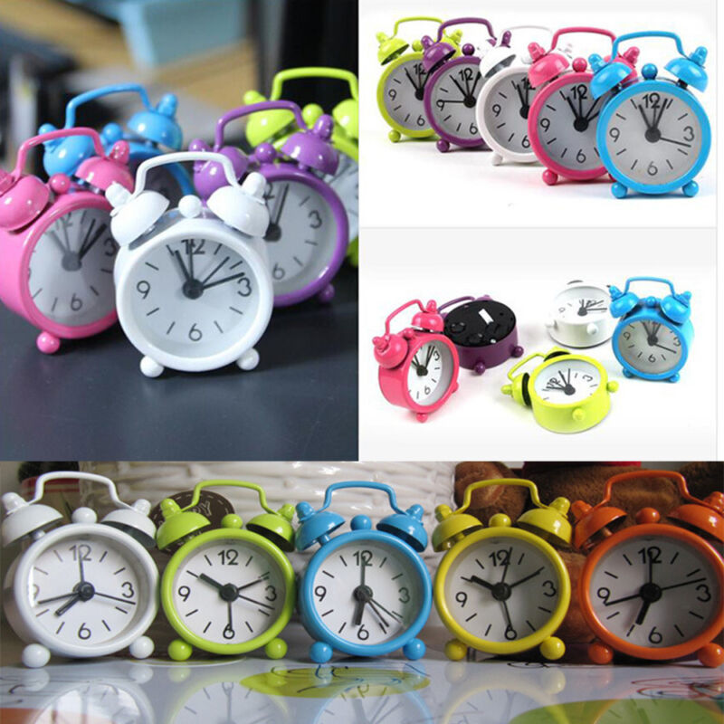 Creative Cute Mini Metal Small Alarm Clock Electronic Small Alarm Clock CA
