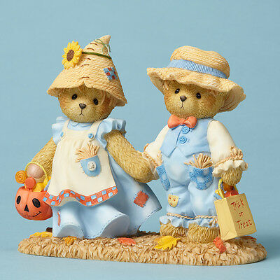 Cherished Teddies Kenn & Sue ~ Leaves Crunch While Treats 4053446 NIB
