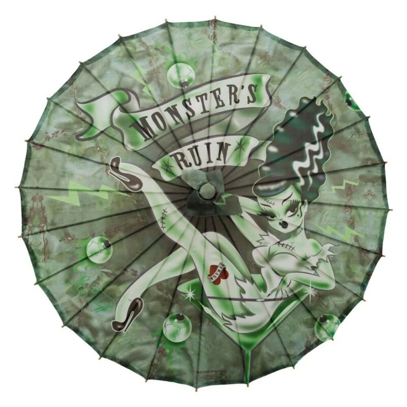 Monsters Ruin Mobile Fabric Parasol Bride of Frankie Tattoo Rockabilly Fashion