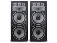 "Pair SKYTEC TX215 2 X 38CM (15"") PASSIVE PA SPEAKER 300W RMS STURDY CABINET"