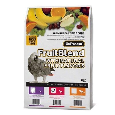 ZuPreem FruitBlend MEDIUM/LARGE PARROT Food Pellets 35 Pounds Fruit Blend Bird