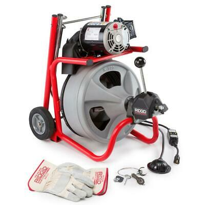 Ridgid 115-volt K-400af Autofeed Drain Cleaning Drum Machine With C-32 3 8 In.