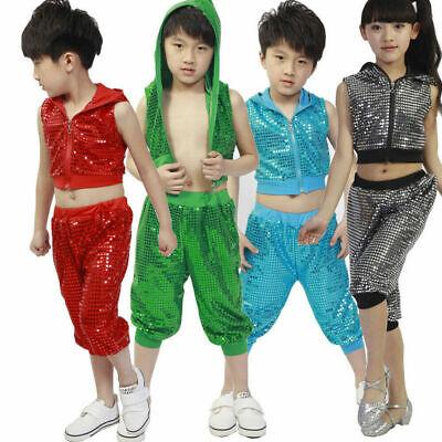 Kinder Tanzkleidung Hip Hop Jazz Tango Bekleidung Pailletten - Hip Hop Kostüm