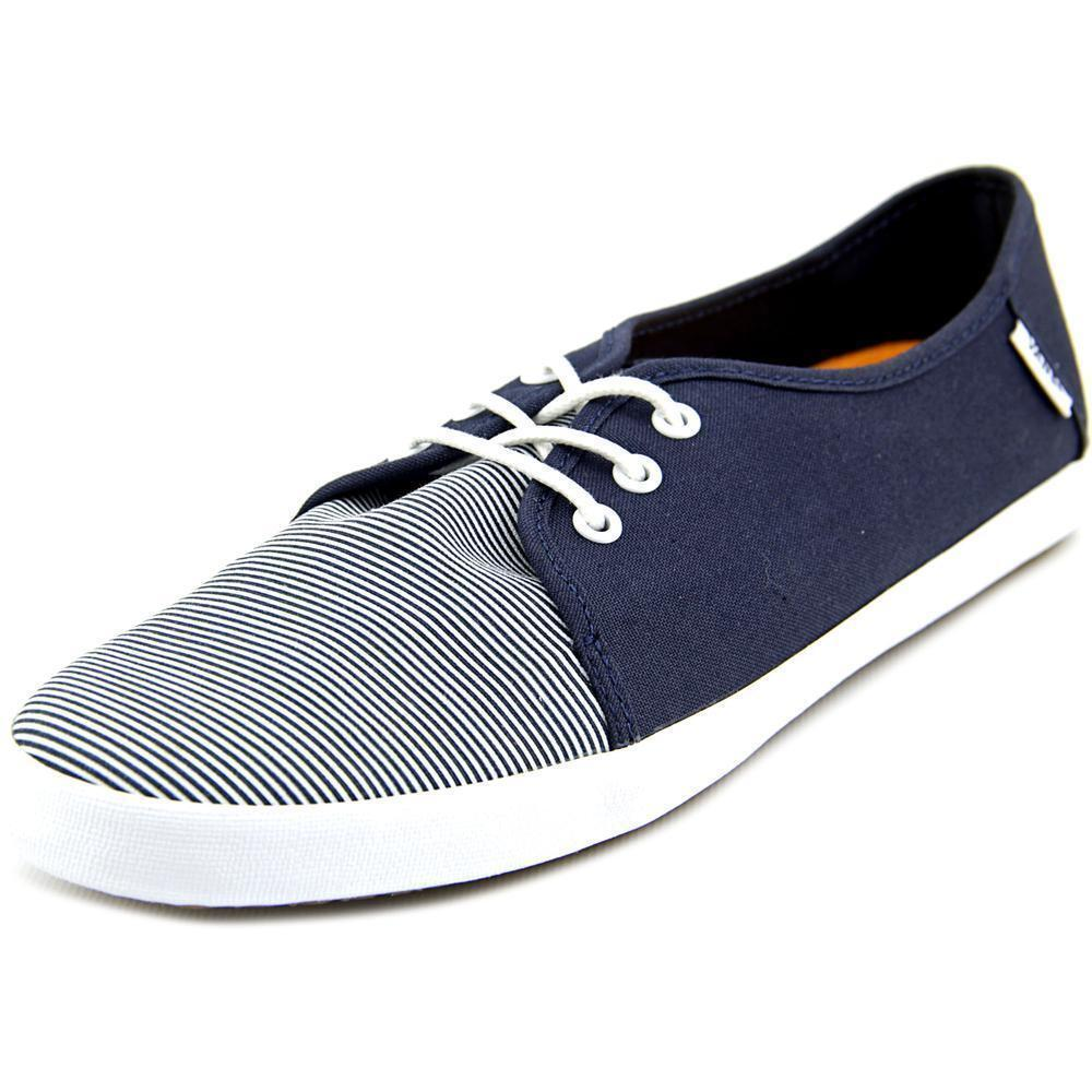 10f35c0d6697 VANS off The Wall Tazie SKINNY Stripes Navy Blue Canvas Womens Surf Shoes  10 Sk8 for sale online