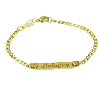 Personalized 18k Gold Baby Name Bracelet Custom Any Name Boy or Girl Bracelet