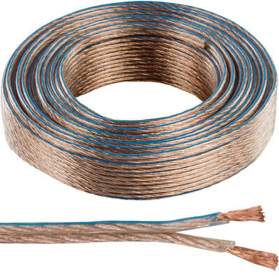 25m OFC COPPER Speaker Cable –16AWG 1.4mm²– Stranded 2 Core Figure 8 Audio Wire for sale  Shipping to Ireland