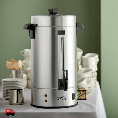 100 Cup Coffee Urn Maker Commercial Office Brewer Pot Dispenser Large Electric