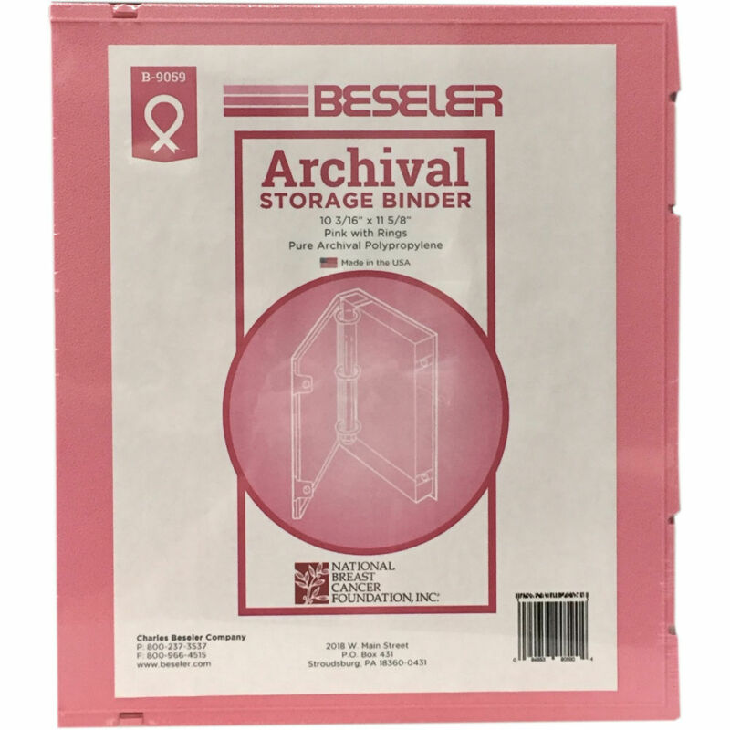 Besfile Archival Binder with Rings (Pink)