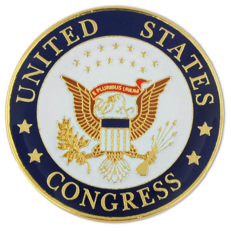 UNITED STATES CONGRESS SEAL CONGRESSMAN LAPEL BAGE PIN