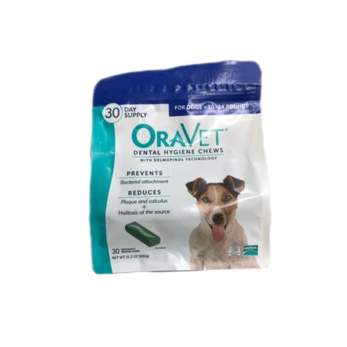 Oravet Dental Hygiene Chews Small Dogs 10-24lbs 30ct By Merial