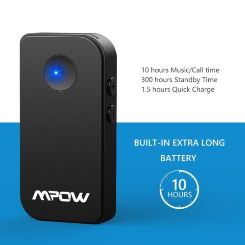 Mpow Wireless Bluetooth 4.1 Receiver Handsfree Car Kit 3.5mm Audio Music Adapter