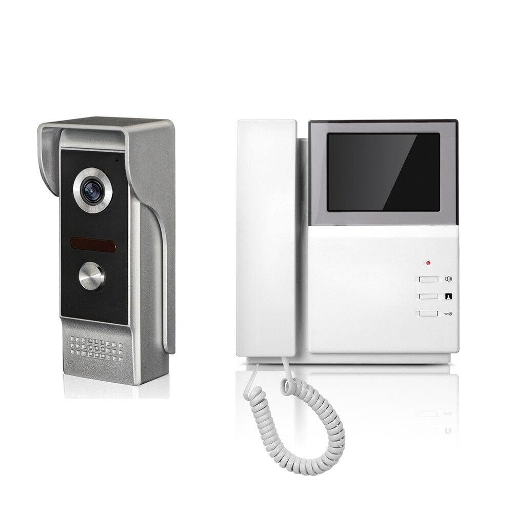 Waterproof Wired Video Door Phone Audio Visual Intercom Entry System Villa House