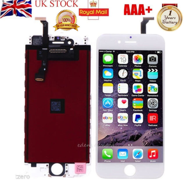 """For iPhone 6 4.7"""" LCD White Replacement Touch Display Digitizer Screen repair UK"""