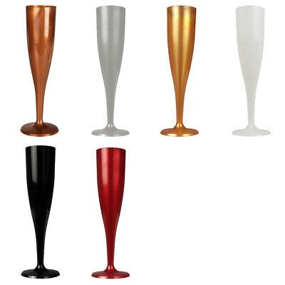Einweg Sektgläser aus Kunststoff, 6 Champagnergläser, Sektkelche, Plastik - Kunststoff Champagner