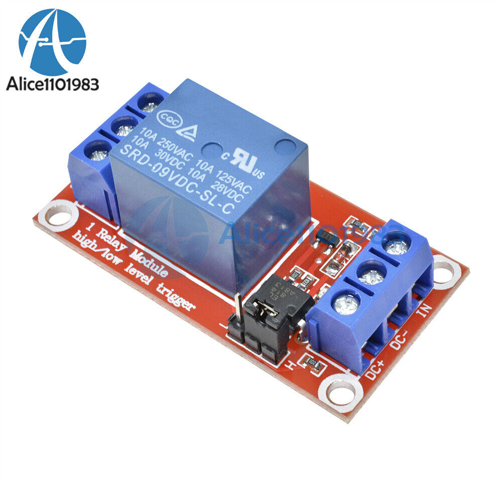 DC 9V 1Channel Optocoupler Driver Shielded High Low Level Relay Module