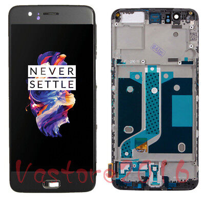 For Oneplus 5 Five A5000 LCD Display Touch Screen Replacement Digitizer +Frame