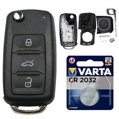 Plegable Carcasa para Llaves Coche Nuevo Apto VW T5 Golf 6 Passat Touran EOS