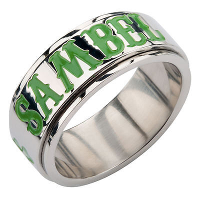 Sons Of Anarchy  Sambel  And Clover Stainless Steel Spinner Ring