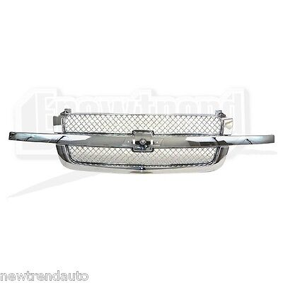 For Chevrolet Silverado Front GRILLE GM1200514 CHROMED 15120575 New