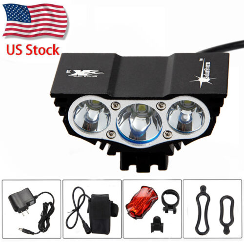 SolarStorm 12000LM 3x XM-T6 LED Bike Bicycle Lamp Outdoor Headlight Battery