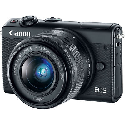 Canon EOS M100 Mirrorless Digital Camera w/ 15-45mm Lens (Black) 2209C011