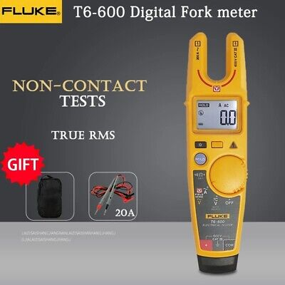 Fluke T6-600 Voltage Clamp-meter High Precision Continuity Digital W Soft Case