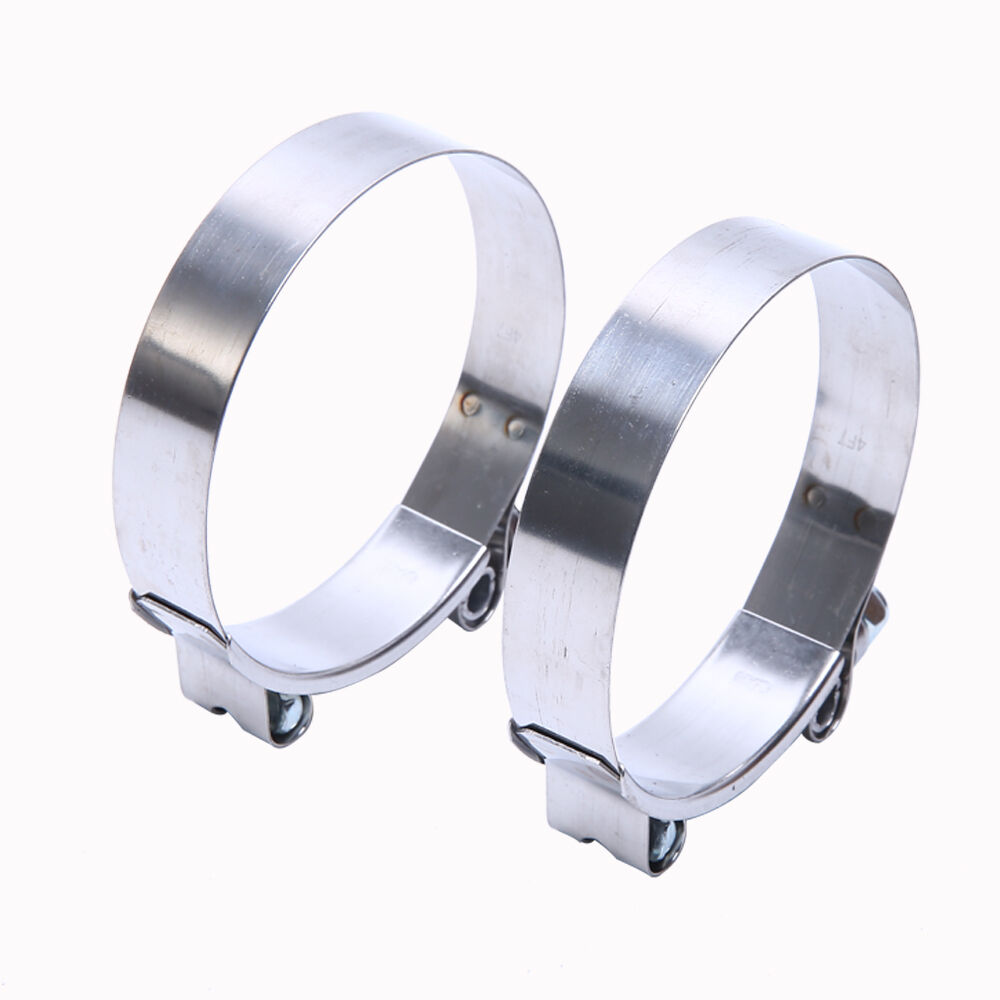 2 x 2.5'' STAINLESS STEEL T-BOLT TURBO SILICONE HOSE CLAMP INTAKE INTERCOOLER