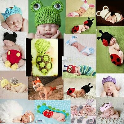 Baby Boy Girl Knit Clothes Newborn Photo Crochet Costume Photography Prop Outfit ()