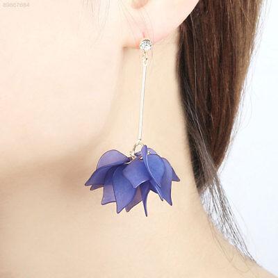 F52E Baumeln Ohrringe Tropfen Ohrringe Quasten Blume Blütenblätter Kostüm