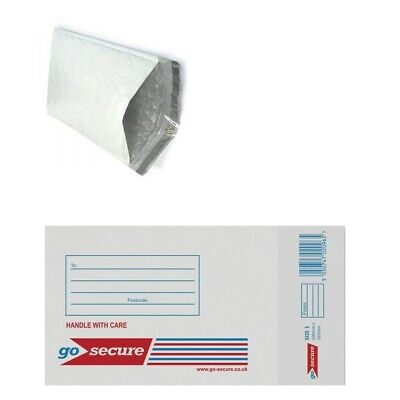100x White Padded Postal Envelopes Size 4 180x265mm Bubble Lined Postage