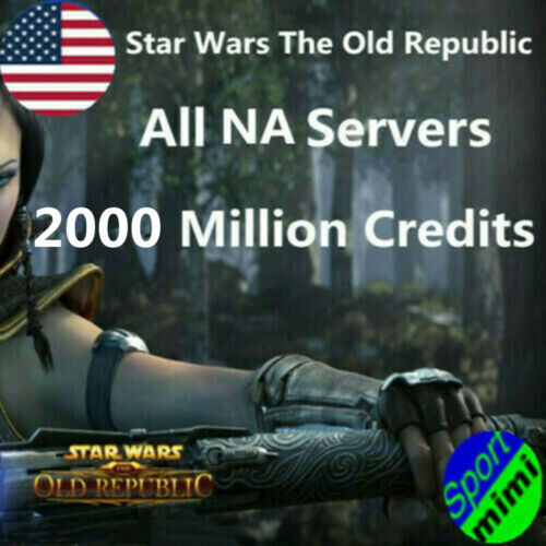SWTOR Credits 2000 Million Star Wars The Old Republic Item All NA Server US Gold